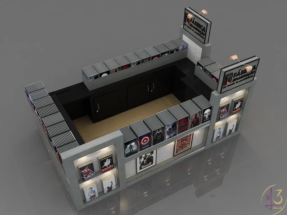Locação de stand para shopping